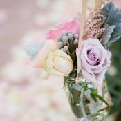Flowers in Mason Jar Aisle Decor