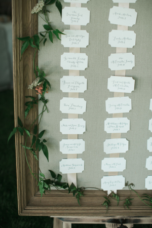 Framed Seating Chart Ideas