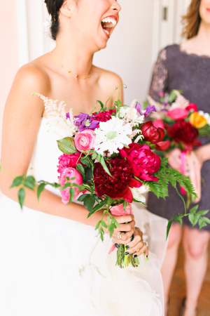 Fuchsia Bride Bouquet