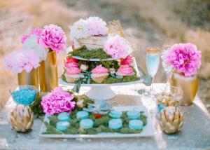 Fuchsia and Aqua Dessert Table