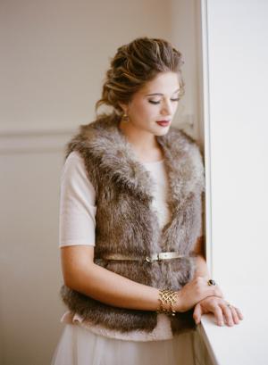 Fur Vest for Bride