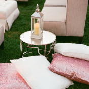 Glitter Pink Pillows Wedding Lounge