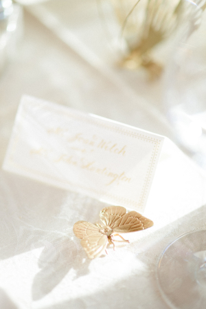 Gold Animals Wedding Table