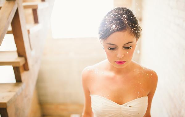 Gold Confetti Bride