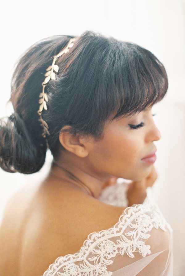 Gold Leaf Bridal Hairpiece