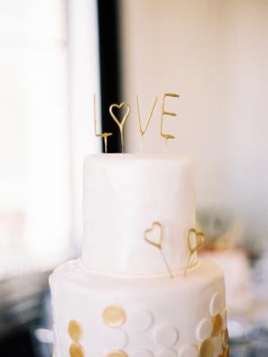 Gold Love Wedding Cake Topper