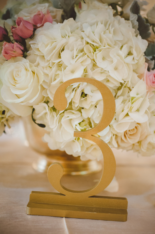 Gold Metal Table Numbers