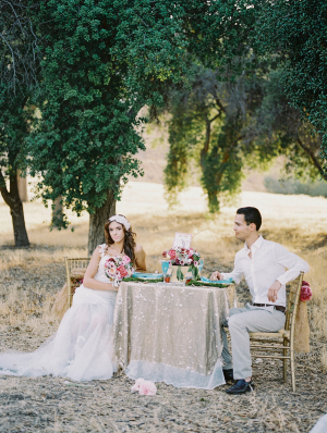 Gold Pink Wedding Table