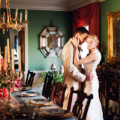Gold Red and Green Virginia Reception Venue