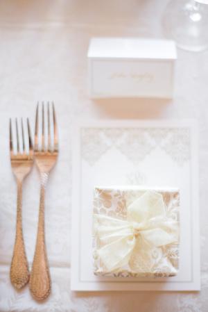 Gold Wedding Favor Box