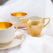 Gold and Floral Tea Service