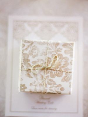 Gold and White Favor Box