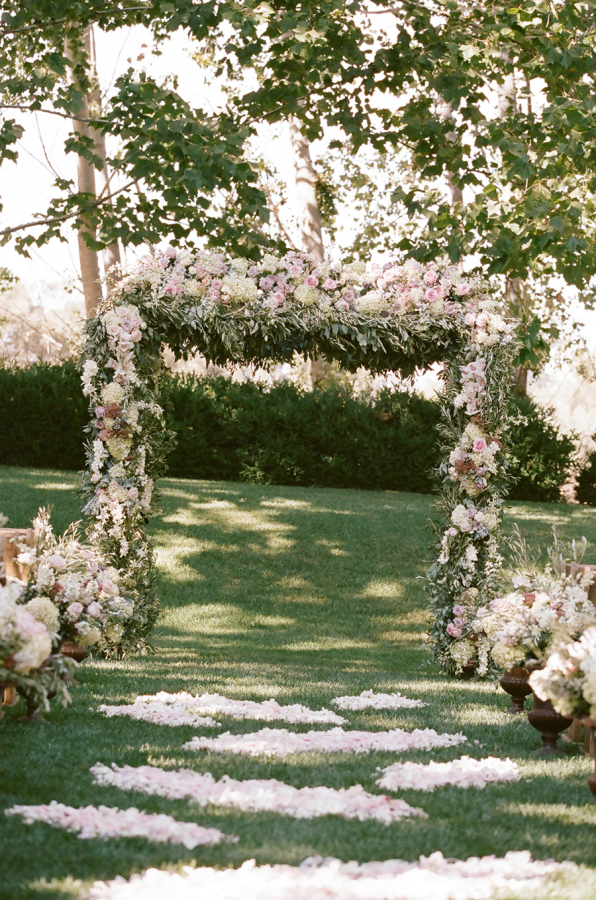 Gorgeous Floral Wedding Arch