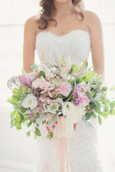 Gorgeous Lavender and Green Bouquet