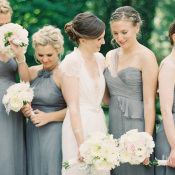 Gray Amsale Bridesmaid Dresses