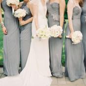 Gray Amsale Bridesmaids