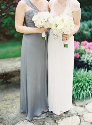 Gray Bridesmaids Amsale