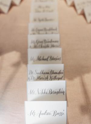 Gray Calligraphy Escort Cards