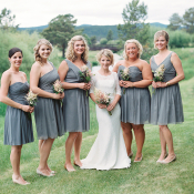 Gray JCrew Bridesmaids