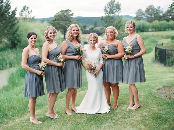 Gray JCrew Bridesmaids