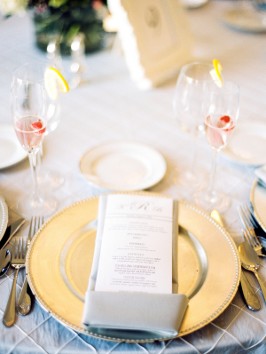 Gray and Gold Place Setting