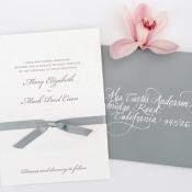 Gray and White Weddin Invitations