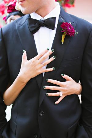 Green Nail Polish for Bride