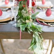 Greenery Garland on Table