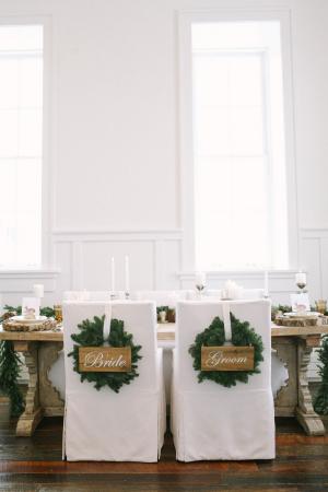 Greenery Wreath Chair Decor