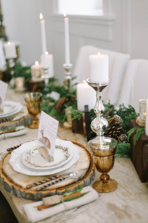 Greenery and Wood Tabletop