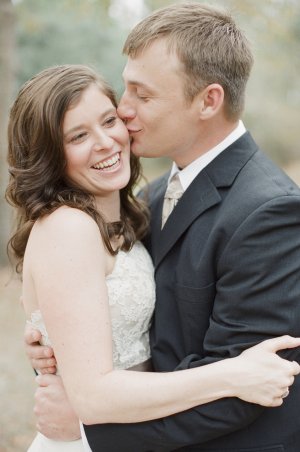 Groom Kissing Bride from Ashley Seawell Photography