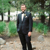Groom at Oregon Wedding
