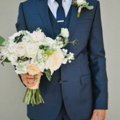 Groom in Navy Suit