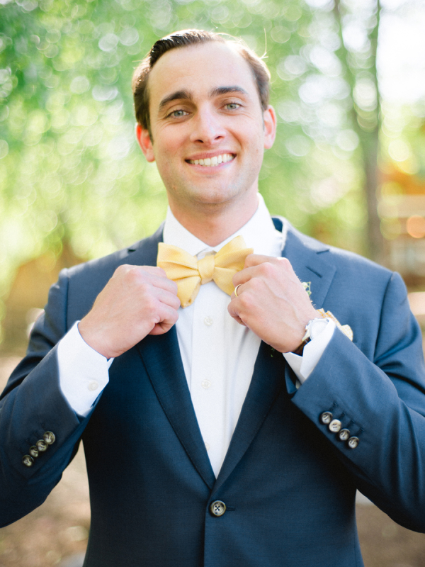 Groom in Yellow Bow Tie