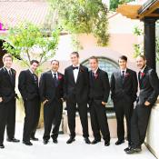 Groomsmen Black Tuxedos