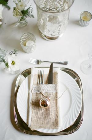 Holiday Wedding Place Setting