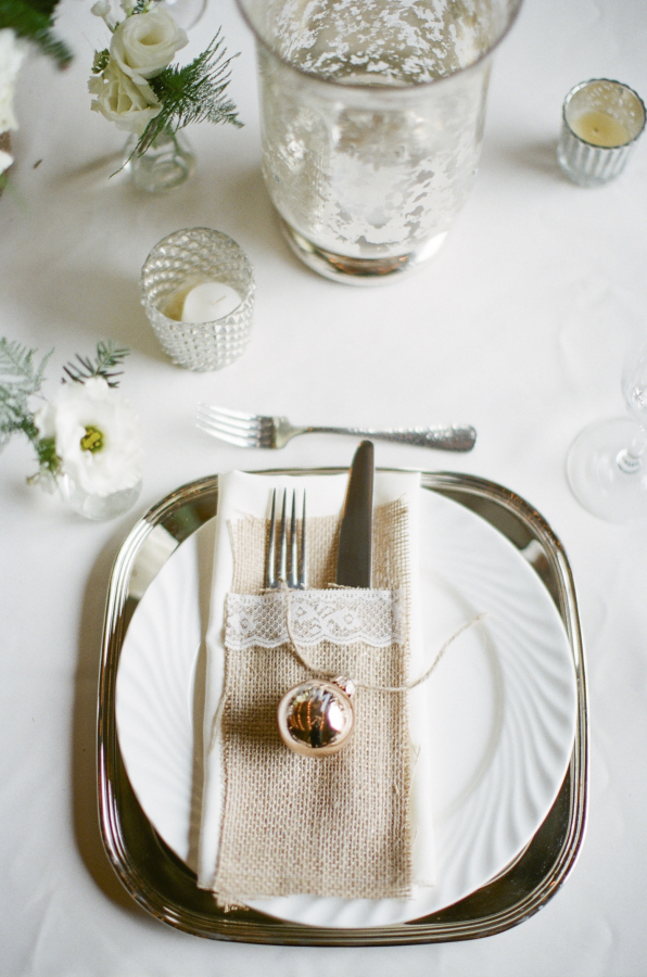Holiday Wedding Place Setting