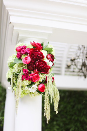 Hot Pink and Green Ceremony Flowers