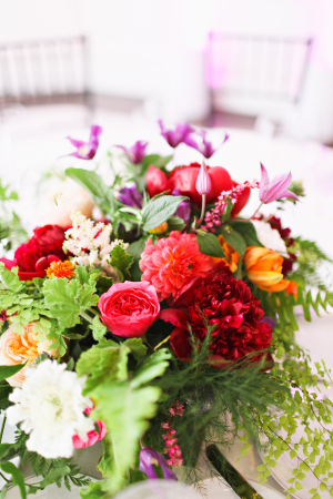 Hot Pink and Green Wedding Flowers