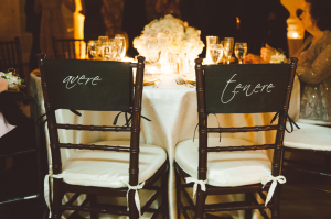 Italian Monogrammed Chair Covers