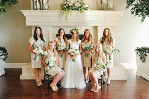 Ivory Bridesmaids Dresses