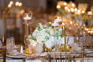 Ivory Gold Wedding Reception
