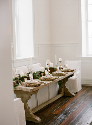 Ivory and Green Winter Wedding