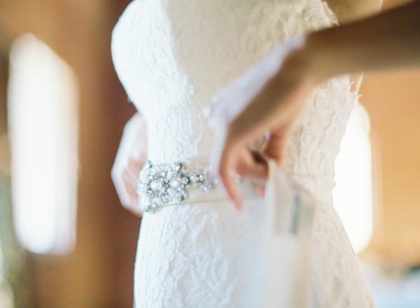 Jeweled Sash for Wedding Dress