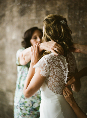 Lace Back Panel Bridal Gown