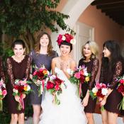 Lace Dark Purple Bridesmaids