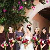 Lace Plum Bridesmaids