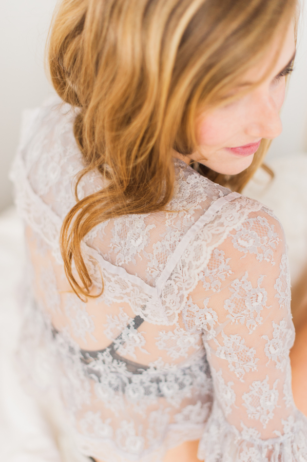 Lace Shirt and Black Bra Boudoir Inspiration