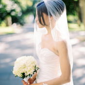 Lace Trimmed Bridal Veil