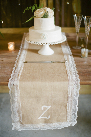 Lace and Burlap Table Runner